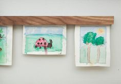 Display your kids' art with a sleek, modern magnetic Snap Hang frame.