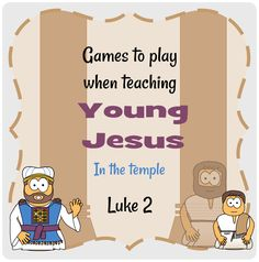 teaching Young Jesus in the temple - here is a selection of games you can play with your group. Church Activities, Bible Activities, Preschool Activities, Preschool Bible Lessons, Bible Lessons For Kids, Jesus Crafts, Bible Crafts, Sunday School Lessons, Sunday School Crafts