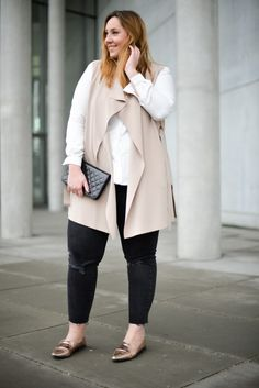 New Love w// Marina Rinaldi - The Skinny and the Curvy one Plus Size Tips, Look Plus Size, Plus Size Model, Curvy Outfits, Mode Outfits, Plus Size Outfits, Fashion Outfits, Fashion Ideas, Fashion Tips