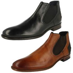 Mens bugatti #bettino #leather slip on #formal work chelsea ankle boots,  View more on the LINK: http://www.zeppy.io/product/gb/2/281817717577/