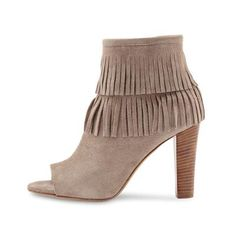 Bootie Taupe, Peep Toe, Spring Summer, Booty, Fringes, Heels, Black, Fashion, Fashion Styles