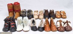 North America's auction house for Couture & Vintage Fashion. Clothing And Textile, Clothing Patterns, Historical Clothing, Vintage Shoes, Hiking Boots, Doll Clothes, Shoe Boots, Kids Fashion, Vintage Fashion