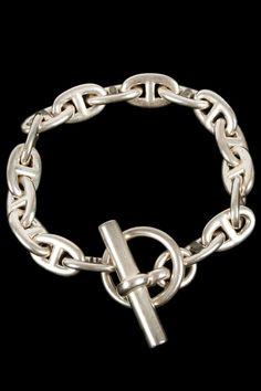Hermes Vintage Silver Chaine D'Ancre Bracelet