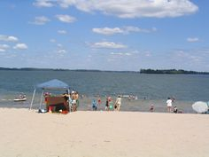 Camp Trillium, OuR Island- Sandbanks Provincial Park. Sometimes (weather permitting) will take camp to this wonderful stretch of beach for the afternoon.