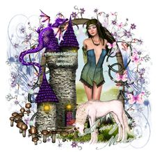 """FREE TO FOLLOW TUTORIAL** WOW!! a Stunning tag made by Amy Marie's Tag's and Tutorial's using my PTU scrap kit """"A Unincorns Realm""""."""