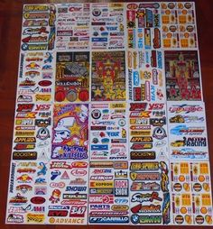 20 Sheets Sticker Decal Car ATV Bike Racing Helmet Motor cross Dirt BMX