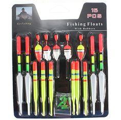 CCrystal 1 set of 15Pcs Float Glow Stick Fishing Floats Slip Drift Tube Indicator Assorted Sizes Float