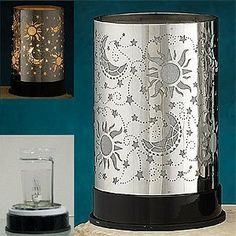 Sun, Moon & Stars décor Electric Oil Warmer Diffuser Aromatherapy by OddCommodity, http://www.amazon.com/dp/B007NQ5UOK/ref=cm_sw_r_pi_dp_Yiqlrb1WK4QRZ