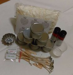 Other Candle Making & Soap Making Supplies Diy Candle Making Kit, 6 Candles, Soap Making Supplies, Fragrance Oil, Diy Kits, Coupon Codes, Tin, How To Make, Travel