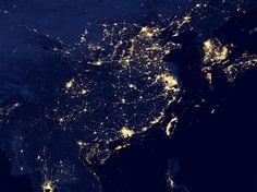 ニュース - 科学&宇宙 - 東アジアの夜、スオミNPP撮影 - ナショナルジオグラフィック 公式日本語サイト(ナショジオ)