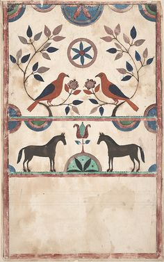 Drawing - Fraktur, Pennsylvania, ca. 1830