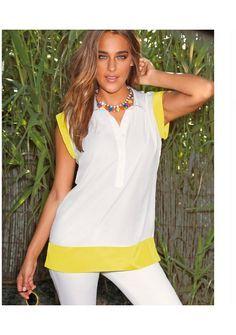 Блузка Venca Элегантная модель с рубашечным воротником, стильная планка с пуговицами.Цена 1399р http://www.syly.ru/catalog/bluzka-venca_1192275/
