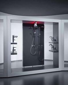 aquaMART sanitary showroom by FLÓ Architects, Budapest store design