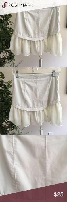 Nwot faux leather and chiffon mini skirt sz S Nwot faux leather and chiffon mini skirt sz S Skirts Mini