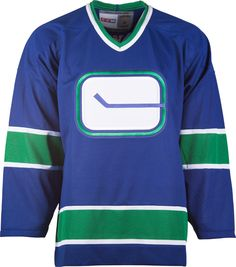 d14ed89aa96 Vancouver Canucks CCM Vintage 1972 Royal Replica NHL Hockey Jersey  CoolHockey