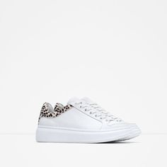 Image 2 of LEATHER PLATFORM SNEAKERS from Zara