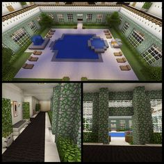 Minecraft Inside Pool Hot Tub Balcony Hallway Grill Fountain Garden Creations