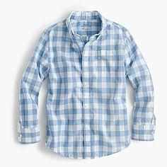 Boys' Secret Wash shirt in heather check