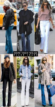 Check out how these stylish ladies wear their flare jeans + shop my picks, over at www.lainthebay.com