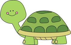Free Cute Clip Art | Cute Turtle Clip Art Image - cute green turtle with pink rosy cheek.