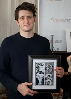 """Zach Woods of """"The Office"""" with Java Jane Designs."""