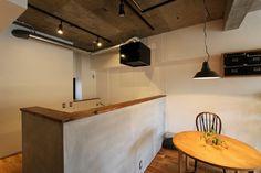 キッチンダイニング|モルタル|コンクリート