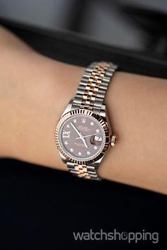 ROLEX Lady-Datejust 28 Rolesor Rose Fluted / Jubilee / Chocolate Diamond  #Watchshopping #Luxury #Rolex #Watch  Rolex Gmt, Rolex Submariner, Vintage Rolex, Vintage Watches, Rolex Daytona, Gold Rolex, Diamond Rolex, Rolex Cellini, Rolex Watches For Men