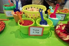 Pool party themed birthday party