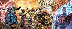90's X-Men by Jim Lee - Jean Grey, Professor X, Storm, Archangel, Beast, Colossus, Gambit, Rogue, Psylocke, Cyclops, Wolverine, Iceman, Magneto.