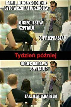 Trendy w kategoriach humor w tym tygodniu - Poczta Wtf Funny, Funny Cute, Polish Memes, Sad Texts, Weekend Humor, Funny Mems, Donia, E Cards, Best Memes