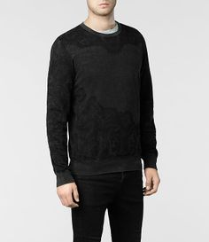 Mens Fragment Sweat (Vintage Black) | ALLSAINTS.com