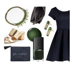 """Emerge in Emerald"" by halfunited ❤ liked on Polyvore featuring Nanette Lepore, NARS Cosmetics, Liberty, Aerie, Anya Hindmarch, DateNight and nailedit"
