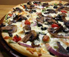 Spinach, Mushroom Feta Pizza