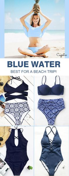 Cupshe Blue Water Bikini Collection! Sunshine + Beach + Cupshe = Perfect travelling :) Shop collections inspired by beaches all over the world! You are bound to look fabulous~ FREE shipping!