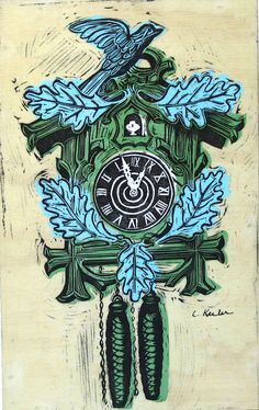 Linoleum block print by Cornflower Press