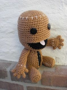 Sackboy Pattern Crochet Amigurumi Open Mouth Zipper by amiamour