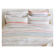 BLOOMSBURY Multi-coloured jacquard double duvet cover