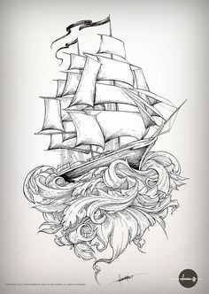 Old school shipping is part of Ship tattoo - The latest on the still inprogress piece I'm doing for a very, very patient friend Stay tuned, there's still a long way to go! Hai Tattoos, Body Art Tattoos, Sleeve Tattoos, Ship Tattoo Sleeves, Sea Tattoo Sleeve, Tattoo Sketches, Tattoo Drawings, Trendy Tattoos, Cool Tattoos