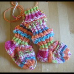 How to knit train sock for babies (& an interesting story about them)