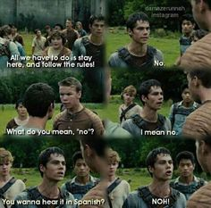 Aaahh! It's a mix of Teen Wolf and The Maze Runner! It's Stiles AND Thomas!