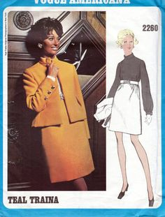 60s Vogue Americana dress and jacket sewing pattern by by Tigrisa