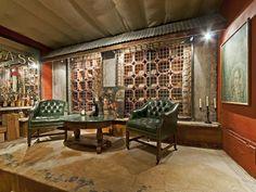 This underground wine cellar has the feel of a 1920s speakeasy.