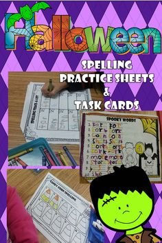 Your kids will enjoy studying their spelling words with these Halloween themed spelling printables!