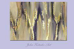 Große abstrakte Ölgemälde Blattgold Blattsilber Malerei !!! Ein Bild gekauft, der zweite ist ein kleines Geschenk DETAILS * Name: Abstrakte Melody 2017 * Maler: Julia Kotenko * Größe: 47 x 31 (120 x 80 cm) * Original handgemachtes Ölgemälde auf Leinwand, goldmalerei, Blattgold,