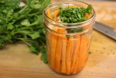 Marinated Carrot Sticks - Crispy, crunchy, tangy carrots! Snack perfection.