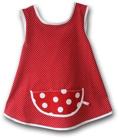 Schürzenkleid Pünktchen Ina Kleid Bullerbü von RosabluemchenShop