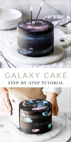 Galaxy Cake with American Buttercream Galaxy cakes are so beautiful but who wants to spend time making that mirror glaze and have it not turn out! No one so I made American Buttercream Galaxy Cake which is so much easier than you think! Bolo Star Wars, Star Wars Cake, Best Cake Recipes, Sweet Recipes, Card Birthday, Birthday Ideas, Birthday Invitations, Birthday Gifts, Birthday Parties