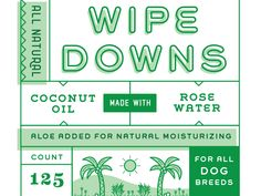 Working on branding and packaging for all natural dog wipes. #grids