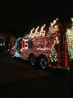 firefighters christmas decor | ... Twp fire department entered this truck for ... | Firefighters