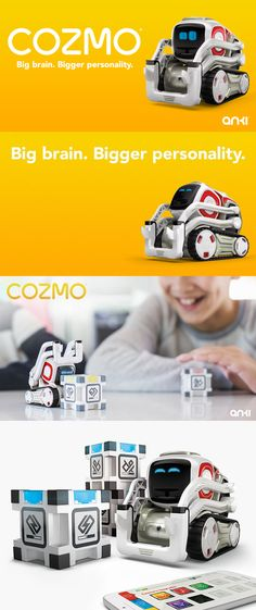 meet the cozmo.Cozmo is a unique real-life robot like you've only seen in hollywood si-fi movies, with a one-of-a-kind personality that evolves the more you hang out. #Cozmo #Robot #toy #movies #sifi